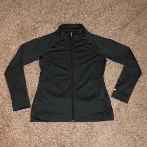 Dark gray Reebok play dry athletic jacket size med